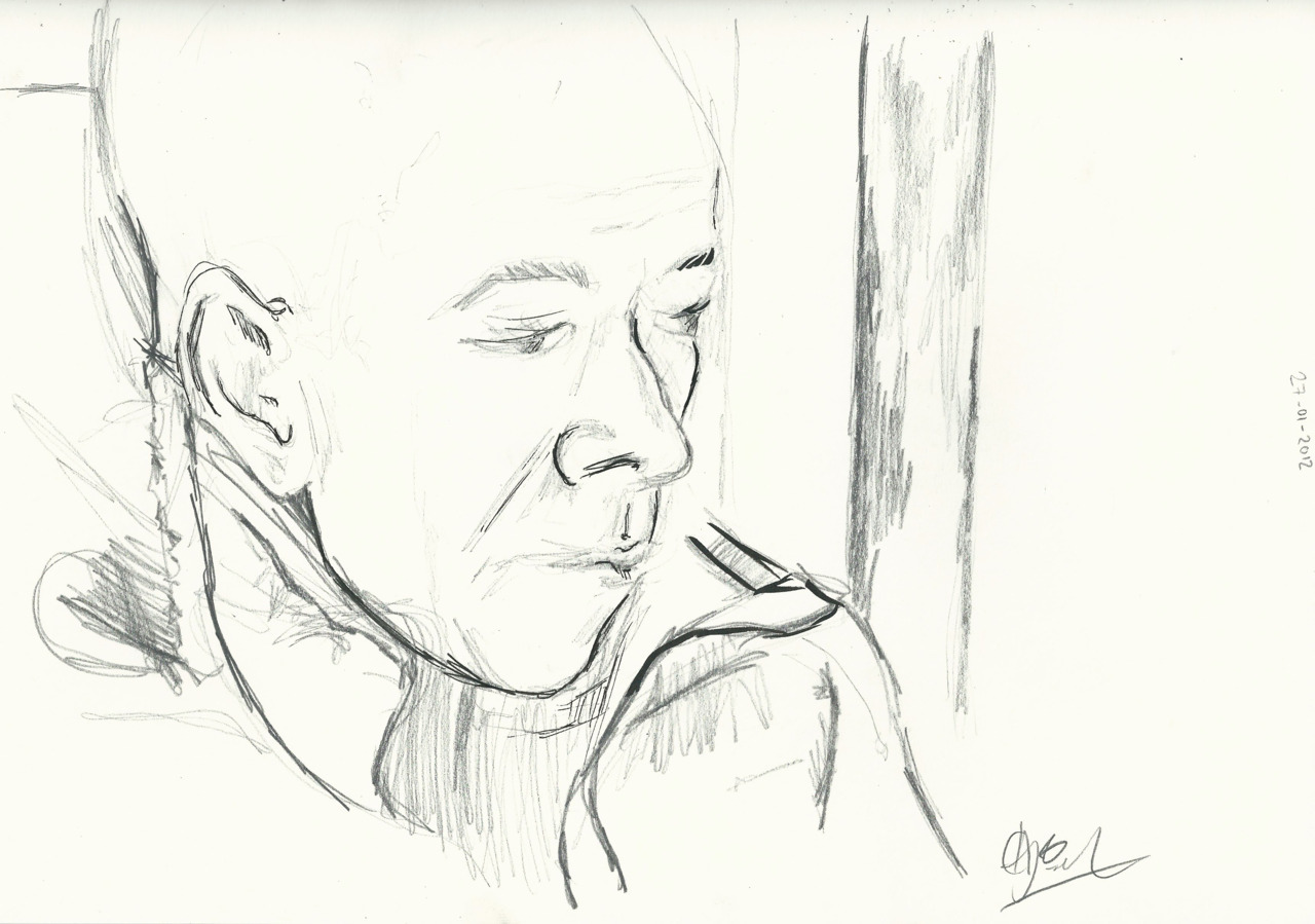 Drawing on the underground. 27/01/2012