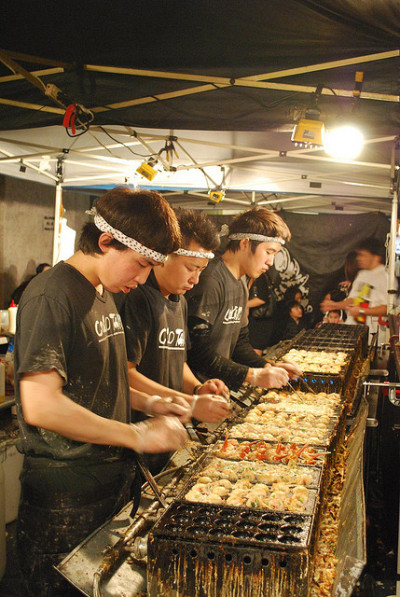 Intense - 3 Tako Chefs - Colo Tako Takoyaki Stall - Chinatown Night Market by avlxyz on Flickr.