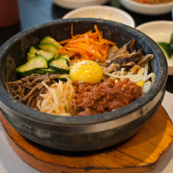 Spicy Pork Bibimbap, So Gong Dong Tofu House, 4127 El Camino Real, Palo Alto.