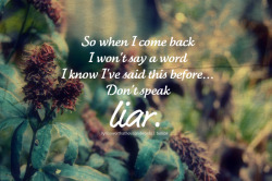lyricsworthathousandwords:  Don't Speak Liar ~We the Kings Requested By: journeyingwithhim