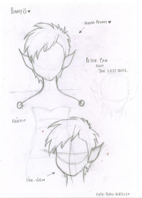 Peter Pan Tumblr Drawing