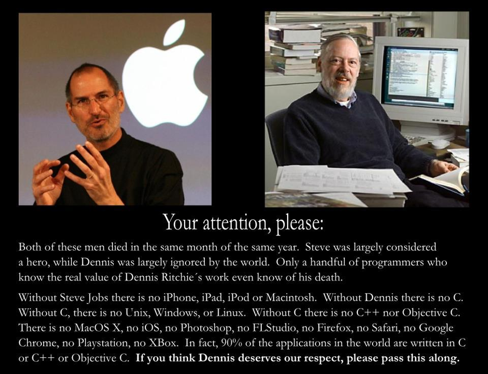 geekfeed:  Here's one for Dennis Ritchie  画