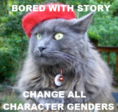Change all character genders. Submitted by forever-the-daydream