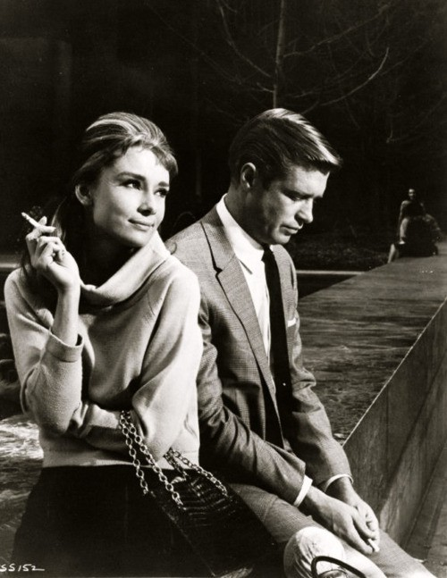 Audrey Hepburn and George Peppard in Breakfast At Tiffany's, 1961