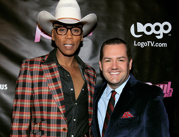 Drag superstar RuPaul and E!'s Ross Mathews attend the RuPaul's Drag Race season four premiere party on Tuesday in West Hollywood, Calif. (Photo by Mark Davis for Getty Images)