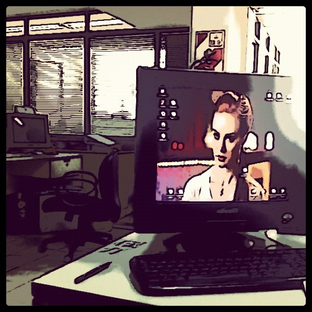 Created with ToonCamera (my office) (Taken with instagram)
