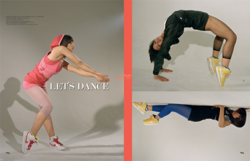 2009 | BLAG Vol.3 Nø 1 Let's Dance | Feature on dance for sponsors, Nike + BLAG Nike IDs Interview by Sally Photography by Sarah