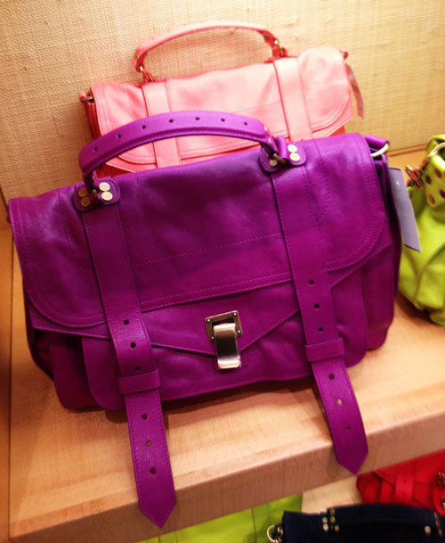 Proenza Schouler Pimp Satchel This purple piece of perfection makes me weak in the knees.