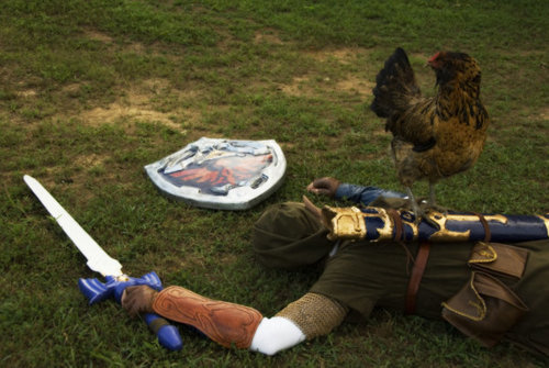 viciousowlbeast:  derplodge:  Fear the cucco  Best Link cosplay I have ever seen.