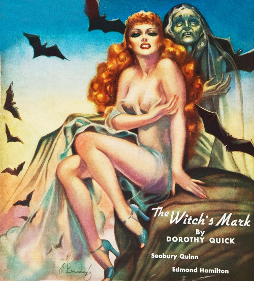 Weird Tales, January 1938. Volume 31, Issue 1. Cover art by Margaret Brundage.