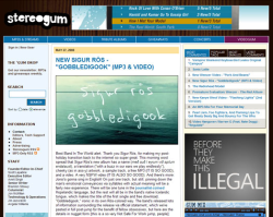 Stereogum and Videogum - UX and IA, HTML, CSS, complete Movable Type 4 build - StereoGum.com and launch of VideoGum.com