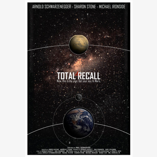 tumblographer:  Fab.com Flash Sale. Total Recall Print 13x19, 30% offFab.comInspired by one of the greatest science fiction/action flicks, the Total Recall Print is from graphic artist Christian Petersen's new series of graphic pop posters. This out-of-this-world design even lists the star-studded cast and crew.