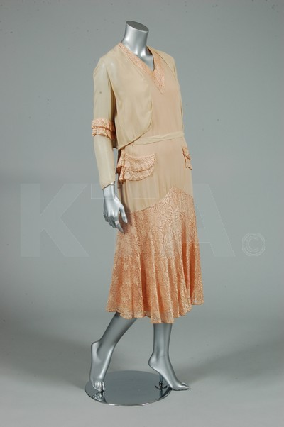 Cocktail dress, ca 1929 Bid here