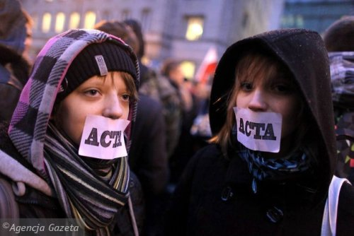 "elledark:  ACTA - The Next Step in Breaking the InternetExtract from this article .. ""There is a new baddie in town, meet ACTA (Anti-Counterfeiting Trade  Agreement). The treaty already has the support of the US, Australia,  Canada, Japan, Morocco, New Zealand, Singapore and South Korea. It has  been called worse than SOPA and PIPA.""""ACTA is a proposed agreement for the purpose of establishing  international standards on intellectual property rights enforcement.  Negotiating countries have described it as a response 'to the increase  in global trade of counterfeit goods and pirated copyright protected  works'."" In a world under the ACTA I would be fined and maybe if I was a  regular culprit imprisoned for that quote. The ACTA is a long and often  difficult to understand piece of scripture but simply put amounts to  the following.Under ACTA, [your] ISP, the company you pay for access to the internet, will  be forced to open up and inspect every single data package you send and  receive to look for copyrighted information. If you send copyrighted  material several times you will be disconnected and even face charges.  Under the worst interpretation of the ACTA treaty, if you send a friend  an MP3 through instant messenger, upload a video of a party with played  copyrighted music or quote a copyrighted newspaper article in an email,  you're gone! In the case of the newspaper article the publisher would be  contacted and, based on their claims, you could be fined or sent to  prison. Any sites such as Twitter and Youtube that hold content of  music, videos or pictures will be greatly affected. How will they work  under a law such as ACTA? Simple. They won't. The internet as we know it  faces major reconstructive surgery to the point of no recognition.This doesn't mean that artists, musicians, writers, filmmakers,  software developers, researchers and journalists will benefit in any  way. They also lose as they will be restricted by the same rules.  Protected ideas now cannot be reused, refined or developed any further.  The whole agreement only benefits a small part of the industry- media  publishing companies (RIAA, MPAA) which have long tried to solve the  internet problem but have failed until now. ACTA is the result of their  lobbying and under the table negotiations.This copy protection is a great tool of information suppression. Once  all the internet filters and blocking techniques are in place virtually  all information taken as copyright can be suppressed. This is bigger  than internet censorship; it is also about the restriction on freedom of  speech, the total surveillance of all online activities and punishing  individuals by taking the internet away from them."" Check the Stop ACTA website and sign the online petition if you want. It does no harm but will probably not do a great deal of good either unless the big money organizations (like Google) that benefited from fighting SOPA get behind it with actions that will impact the politicians supporting ACTA and this doesn't seem likely at the moment. The reasonable objections most people have is to excessive, over-reaching and ill-conceived legislation, implemented by 'bribed', internet-illiterate politicians, that stands a very real chance of 'breaking' the structure of the internet and will certainly treat every user like a potential criminal. The 'remedies' proposed (ACTA, PIPA, SOPA et al) are all grotesquely out of proportion to any possible problem they say they're addressing. Its madness."