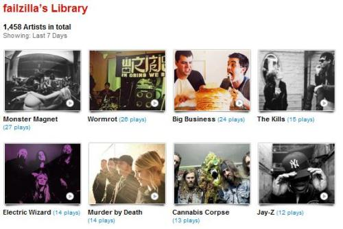my last.fm for the week of 01.21.12 - 01.27.12
