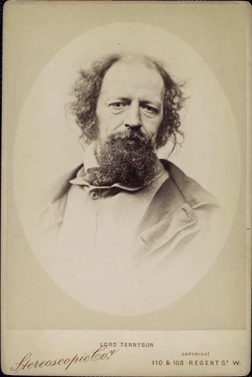 Today's Mustache Monday - Lord Alfred Tennyson. Break, break, break,     On thy cold gray stones, O sea! And I would that my tongue could utter     The thoughts that arise in me.  - Break, Break, Break