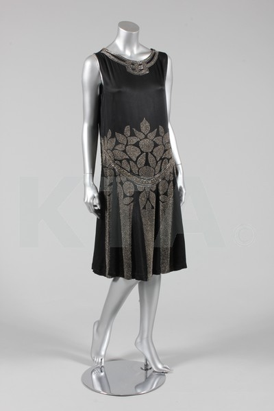 Evening dress, ca 1927 Bid here