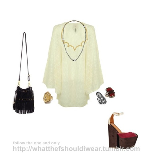 DRESS: One TeaspoonNECKLACES: Bottega Veneta, Solange Azagury-PatridgeRINGS: Sku, Kenneth Cole, LowLuvSHOES: Jeffrey CampbellBAG: Nasty Gal