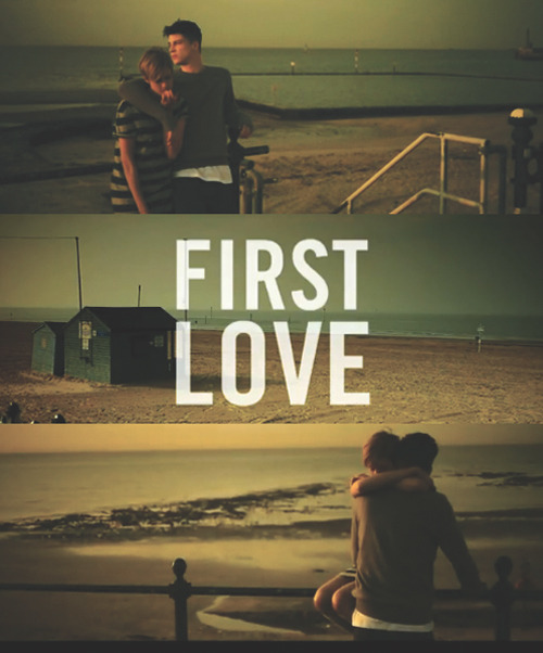 Poster for the video First love , advertisement for DM's their new campaign of getting customers to write in about there first pair of DM's and their memories from it. Every shoe has a Story !!  Brilliant concept let alone good design , check the video too , I'll post it above !! First love  First heart break