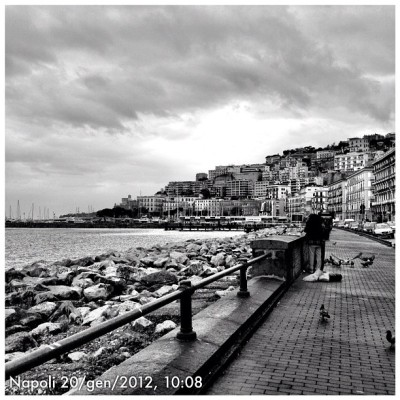 Napoli #instagram #igers #igersnapoli #instafamous #flickr #pontix #px  #ponticelli #picoftheday #bestpic  #photocult #picstagram #webstagram #napoli #panorama #landscape #iphoneonly #ig #instahub #instadaily #instagramhub #igers #ignation #iphonesia #theitalianway #naples #bw #blackandwhite  (Taken with Instagram at via Caracciolo)