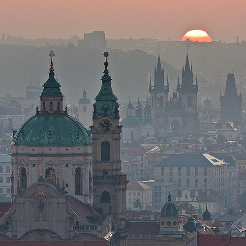 blackberryblackberry:  allthingseurope:  Prague, Czech Republic (by Tomas Megis)  See you in a few weeks, Prague.
