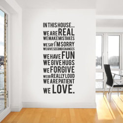 homedesigning:  Vinyl Wall Sticker Decal In this house we do by urbanwalls on Etsy