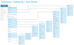 Hierarchy diagram for Comcast xfinity solution