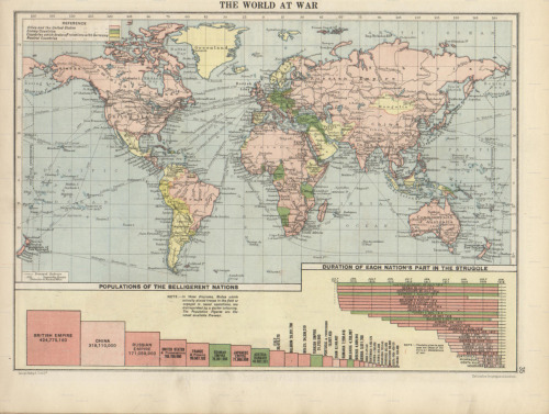 cartographymaps:  Unknown, 1920, The World At War  :D