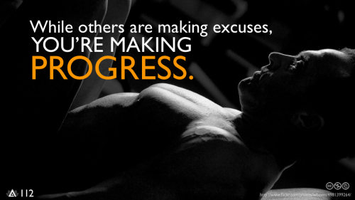 safedefense:  While others are making excuses, you're making PROGRESS.   Love it!!!