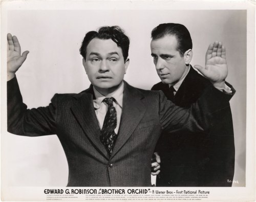 (via Fantasy Ink: Humphrey Bogart, 1899 - 1957) …with Edward G. Robinson, Brother Orchid, 1940.