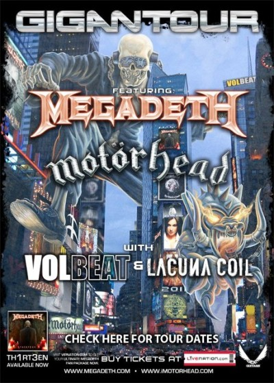 Who's going to Gigantour? is everyone excited for Megadeth, Motorhead, Volbeat and Lacuna Coil?