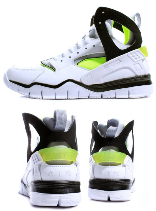 Nike - Air Huarache Free Basketball - White/Volt - 2012 <3!
