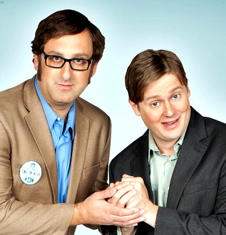 From The Dinner Party, Tim Heidecker and Eric Wareheim reveal a secret behind the unpracticed look of their TV show and new movie:  It takes a lot of work to make it look like it's not a lot of work. A lot of it's in the editing — cutting to the right reaction shots. A trick we use is we shoot a lot of reactions from people and extras when they don't know the camera's rolling. That's when you get a really weird pose, like eyes closed.  Listen: