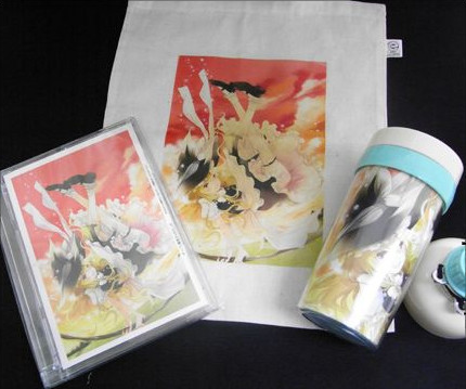 Touhou Marisa Kirisame Tumbler Set - Touhou Project Goods Set - US$35 -http://www.flutterscape.com/product/no/15963/touhou-marisa-kirisame-tumbler-set-touhou-project-goods-set Touhou Project Goods Set from Do-jin Event featuring Marisa Kirisame.Marisa Kirisame's tumbler, tote bag and mini remix CD.Event: Leave magic of Love to Marisa (Koi no mahou wa Marisa ni omakase) http://www.puniket.com/marisa/Author: Golden City Factory http://www.gcfactory.sakura.ne.jp/
