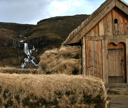 Þjóðveldisbærinn Stöng is a reconstructed viking-era Long house or farmstead in Iceland. It is a replica of the building which was buried under volcanic ash in 1104 following the eruption of the volcano Hekla. The reconstruction was built in 1974 as a part of the national celebrations of the 1100th anniversary of the settlement of Iceland in 874.