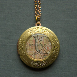 stuffaboutminneapolis:  Minneapolis Minnesota Locket by Larissa Loden