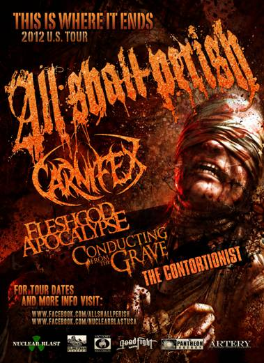 THE CONTORTIONIST Announces Upcoming Tour Dates with All Shall Perish, Carnifex, Fleshgod Apocalypse & Conducting From The Grave