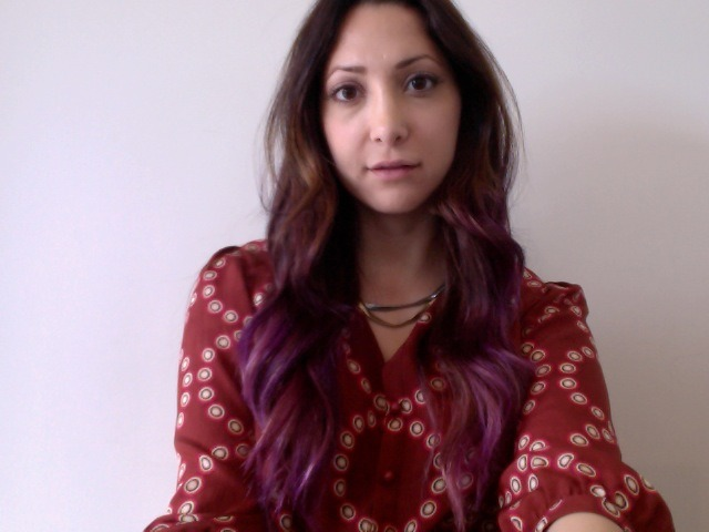Dip dyed my hair purple! Do we likeeeee??