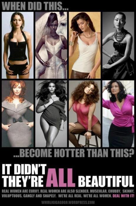 we should not be comparing our bodies.  it is what society wants us to do.  We need to ACCEPT each other