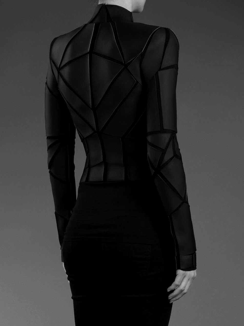 katisque:  Gareth Pugh: Geometric Panelled jacket
