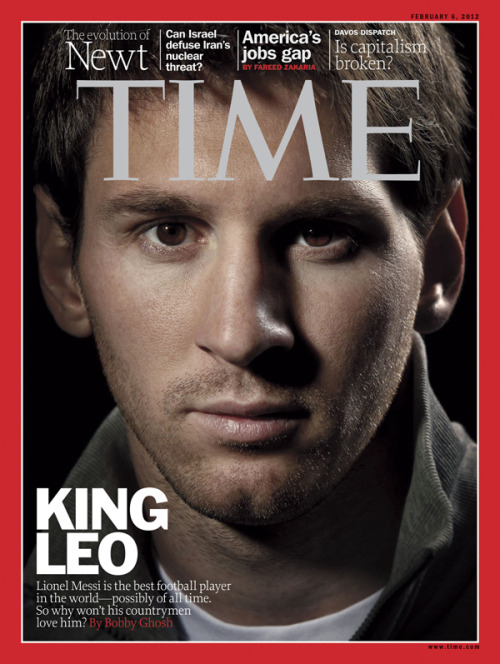 timemagazine:  This week's international cover of TIME features global soccer star Leo Messi. Read excerpts of our exclusive interview.