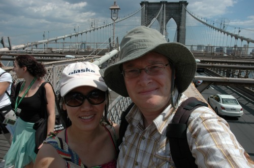 My husband and I at Brooklyn Bridge.
