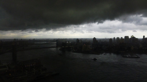 7 - One more from my desk.  Today had some pretty ominous clouds - this was not even taken in b/w.