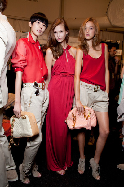 aclockworkpink:  Backstage at Tommy Hilfiger S/S 2010, New York Fashion Week