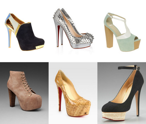 loveforfashion:  Designer shoes and shoes over 100 dollars on my wish list. Top from left to right: River Island, Christian Louboutin, ASOS BITTEN. Bottom from left to right: Jeffrey Campbell, Christian Louboutin, Charlotte Olympia.