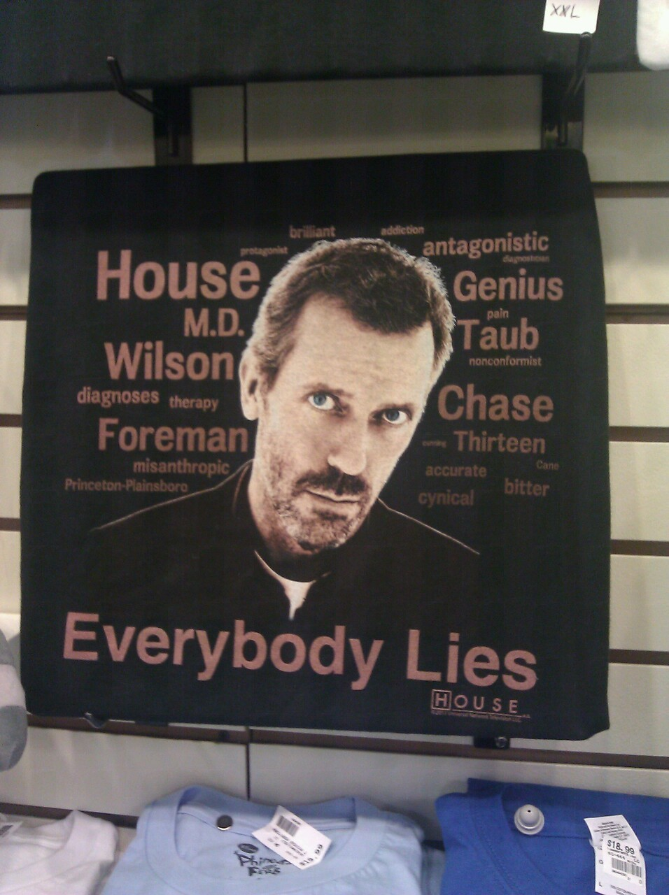Dr. House is in the house!! An awesome shirt sold at Hot Rags. Sooo want!