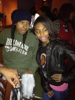 mindlessbehavior:  Ray Ray && Silver (from Glow Girlz)