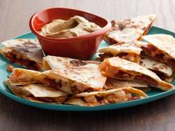 yum sensationalfood:  Chorizo and Shrimp Quesadillas with Smoky Guacamole
