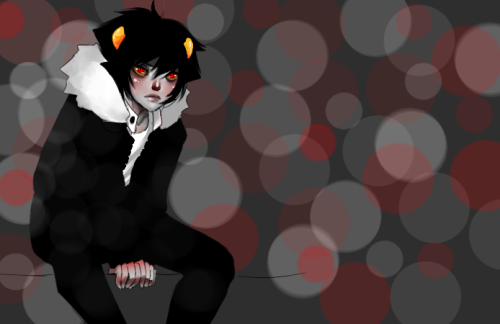 I love painting Karkat. He just has the most adorable face uguuuu <3