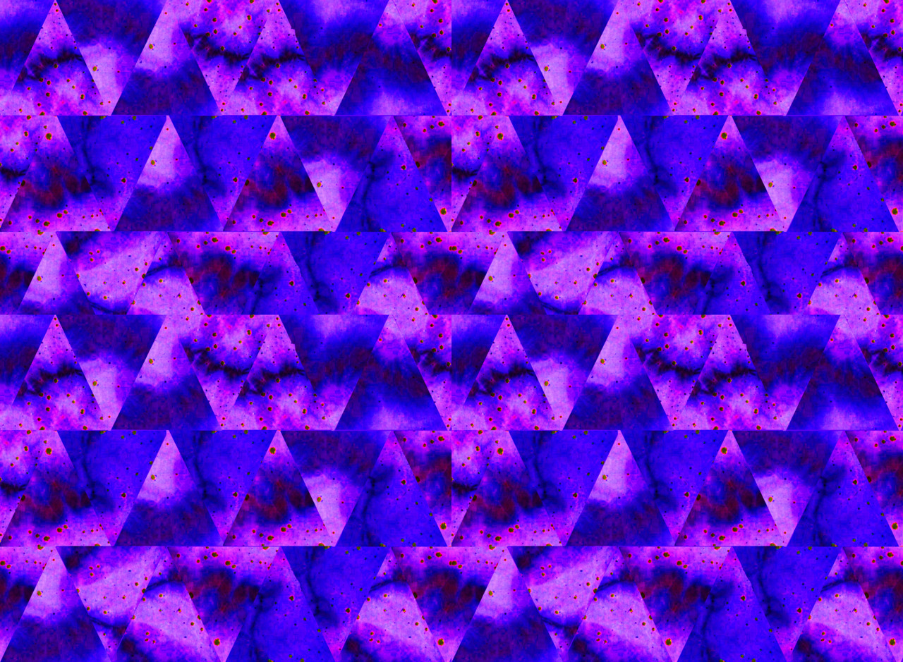 Day 28 - Triangle Lightening - reworked photograph of hand dyed textiles.